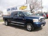 2008 Patriot Blue Pearl Dodge Ram 3500 Laramie Mega Cab 4x4 #27993163