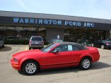 2007 Torch Red Ford Mustang V6 Deluxe Convertible #28059650