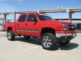 2006 Victory Red Chevrolet Silverado 1500 LT Crew Cab 4x4 #28059684