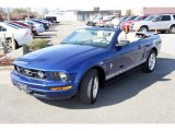 2007 Vista Blue Metallic Ford Mustang V6 Premium Convertible #28064578