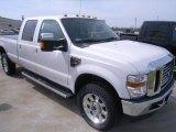 2010 White Platinum Metallic Tri-Coat Ford F350 Super Duty Lariat Crew Cab 4x4 #28092739