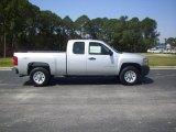 2010 Sheer Silver Metallic Chevrolet Silverado 1500 Extended Cab 4x4 #28092588
