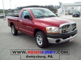 2006 Inferno Red Crystal Pearl Dodge Ram 1500 ST Regular Cab #28092630