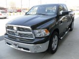2010 Brilliant Black Crystal Pearl Dodge Ram 1500 Big Horn Quad Cab 4x4 #28092795