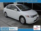 2007 Taffeta White Honda Civic Hybrid Sedan #28092116