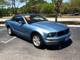 2007 Vista Blue Metallic Ford Mustang V6 Deluxe Convertible #28092120