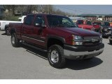 2003 Dark Carmine Red Metallic Chevrolet Silverado 2500HD LT Crew Cab 4x4 #28143955