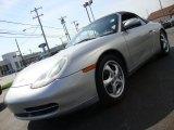 1999 Arctic Silver Metallic Porsche 911 Carrera Cabriolet #28143317