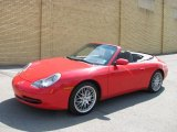 1999 Guards Red Porsche 911 Carrera 4 Cabriolet #28143340