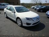2010 White Platinum Tri-coat Metallic Ford Fusion SE #28143499