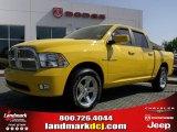 2009 Detonator Yellow Dodge Ram 1500 Sport Crew Cab #28143528