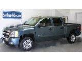 2010 Blue Granite Metallic Chevrolet Silverado 1500 LT Crew Cab 4x4 #28143897