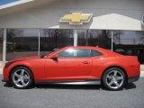 2010 Inferno Orange Metallic Chevrolet Camaro LT Coupe #28143901