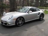 2007 Arctic Silver Metallic Porsche 911 Turbo Coupe #28143408