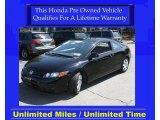 2007 Nighthawk Black Pearl Honda Civic LX Coupe #28143430