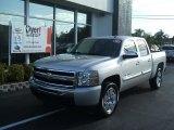 2010 Sheer Silver Metallic Chevrolet Silverado 1500 LT Crew Cab #28143432