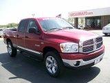2008 Inferno Red Crystal Pearl Dodge Ram 1500 Big Horn Edition Quad Cab 4x4 #28196582