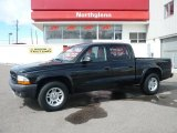 2003 Black Dodge Dakota SXT Quad Cab #28196257