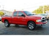 2004 Flame Red Dodge Ram 1500 SLT Quad Cab #28196633
