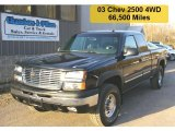 2003 Black Chevrolet Silverado 2500HD LT Crew Cab 4x4 #28196429