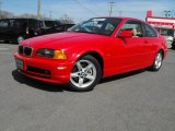 2000 Bright Red BMW 3 Series 328i Coupe #28196171