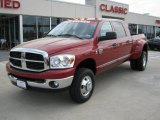 2008 Inferno Red Crystal Pearl Dodge Ram 3500 SLT Mega Cab 4x4 Dually #28196677