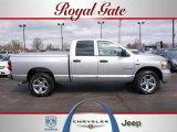 2008 Bright Silver Metallic Dodge Ram 1500 Laramie Quad Cab 4x4 #28196181