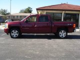 2008 Deep Ruby Metallic Chevrolet Silverado 1500 LTZ Crew Cab 4x4 #2812766