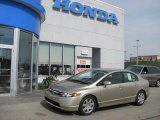 2007 Borrego Beige Metallic Honda Civic LX Sedan #28196352