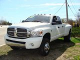2007 Bright White Dodge Ram 3500 SLT Quad Cab 4x4 Dually #28196554