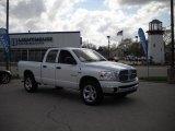 2008 Bright White Dodge Ram 1500 Big Horn Edition Quad Cab 4x4 #28247491