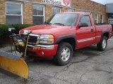 2005 Fire Red GMC Sierra 1500 SLE Regular Cab 4x4 #28247254