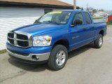 2007 Electric Blue Pearl Dodge Ram 1500 SLT Quad Cab 4x4 #28247054