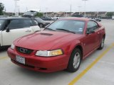 2000 Laser Red Metallic Ford Mustang V6 Coupe #28247294
