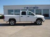 2008 Bright White Dodge Ram 1500 Big Horn Edition Quad Cab 4x4 #28312368