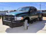 2003 Timberline Green Pearl Dodge Ram 3500 SLT Quad Cab 4x4 Dually #28312516