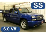 2003 Arrival Blue Metallic Chevrolet Silverado 1500 SS Extended Cab AWD #28312445