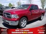 2010 Inferno Red Crystal Pearl Dodge Ram 1500 Big Horn Quad Cab #28364383