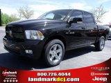 2010 Brilliant Black Crystal Pearl Dodge Ram 1500 Sport Crew Cab #28364386