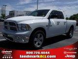2010 Stone White Dodge Ram 1500 Big Horn Quad Cab #28364391