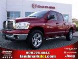 2007 Inferno Red Crystal Pearl Dodge Ram 1500 SLT Quad Cab #28364397