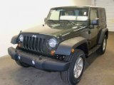 2010 Natural Green Pearl Jeep Wrangler Sport 4x4 #28364274