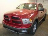 2010 Inferno Red Crystal Pearl Dodge Ram 1500 TRX4 Quad Cab 4x4 #28364276