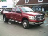 2008 Inferno Red Crystal Pearl Dodge Ram 3500 Big Horn Edition Quad Cab 4x4 Dually #28364451