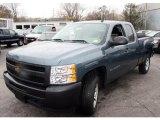 2009 Blue Granite Metallic Chevrolet Silverado 1500 Extended Cab #28397619
