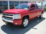 2008 Victory Red Chevrolet Silverado 1500 LT Extended Cab #28403114