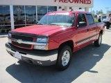 2004 Victory Red Chevrolet Silverado 1500 Z71 Crew Cab 4x4 #28403115