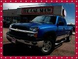 2003 Arrival Blue Metallic Chevrolet Silverado 1500 LT Extended Cab 4x4 #28402931