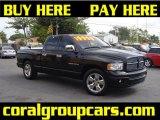 2003 Black Dodge Ram 1500 SLT Quad Cab #28403363