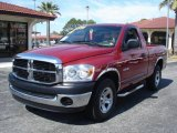 2008 Inferno Red Crystal Pearl Dodge Ram 1500 SXT Regular Cab #2835346
